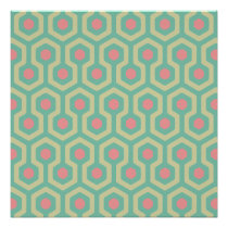 Abstract Geometric Beehive Pattern Poster