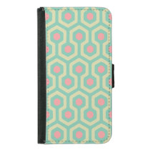 Abstract Geometric Beehive Pattern Samsung Galaxy S5 Wallet Case