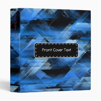 Abstract geometric blue binder