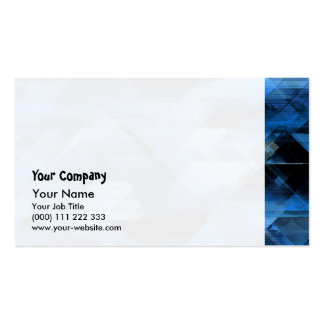 Abstract geometric blue business card