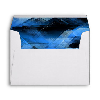Abstract geometric blue envelope