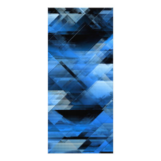 Abstract geometric blue rack card