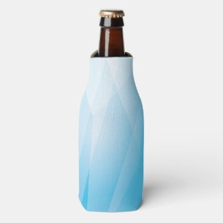 Abstract/Geometric Blues Both Options Bottle Cooler