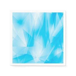Abstract/Geometric Blues Standard Cocktail Napkin