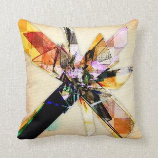 Abstract Geometric Collage Pillow