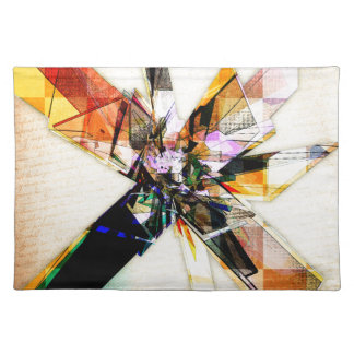 Abstract Geometric Collage Place Mat