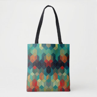 Abstract Geometric Cubes Modern Pattern Tote Bag