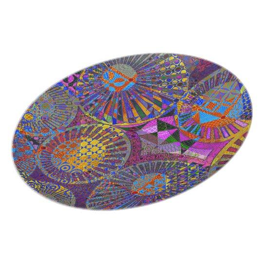 Abstract Geometric Design Dinner Plate