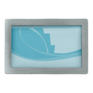 Abstract Geometric Design in Turquoise and Teal. Belt Buckle