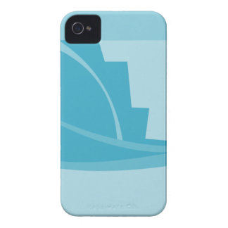 Abstract Geometric Design in Turquoise and Teal. iPhone 4 Case