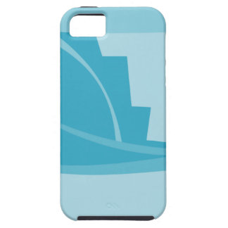 Abstract Geometric Design in Turquoise and Teal. iPhone 5 Case
