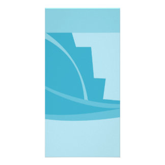 Abstract Geometric Design in Turquoise and Teal. Picture Card