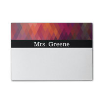 Abstract Geometric Diamond Pattern Post-it Notes