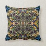 Abstract geometric dream catcher throw pillow