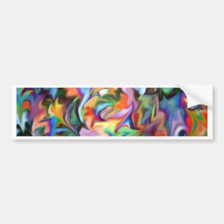 abstract geometric expressionist bumper sticker