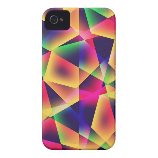 Abstract Geometric Fluorescence iPhone4/4S case iPhone 4 Covers