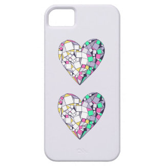 Abstract Geometric Heart Drawing iPhone SE/5S Case