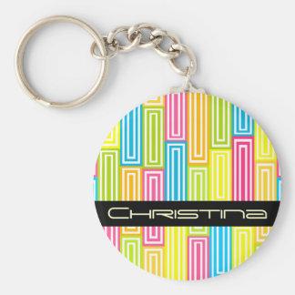 Abstract geometric Keychain