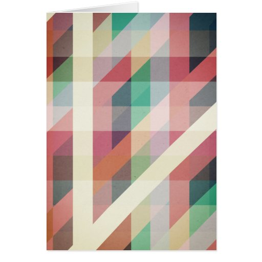 Abstract Geometric Lines Card