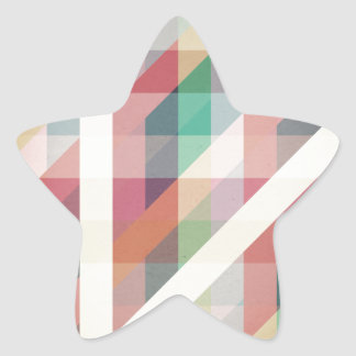 Abstract Geometric Lines Star Sticker
