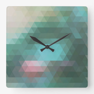 Abstract geometric mosaic triangle wall clock