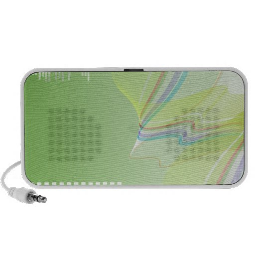 abstract geometric multi color waves speaker
