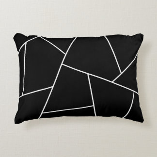 Abstract geometric pattern - black and white. accent pillow