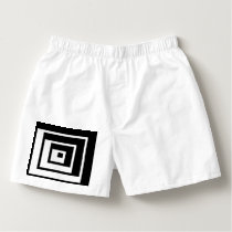 Abstract geometric pattern - black and white. boxers