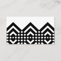 Abstract geometric pattern - black and white. business card