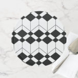 Abstract geometric pattern - black and white. cake stand