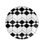 Abstract geometric pattern - black and white. dinner plate