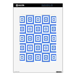 Abstract geometric pattern - blue and white. decals for the iPad