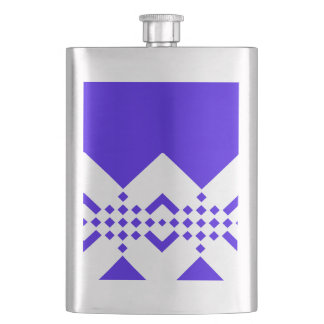 Abstract geometric pattern - blue and white. flask