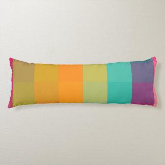 Abstract geometric pattern body pillow