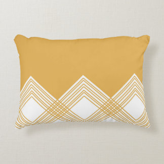 Abstract geometric pattern - bronze and white. accent pillow
