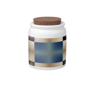 Abstract geometric pattern candy jar