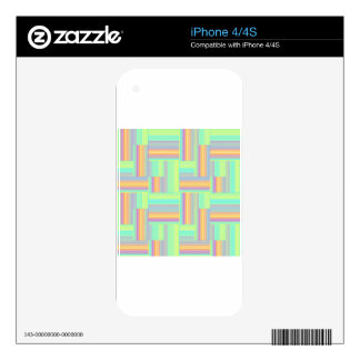 Abstract geometric pattern decals for the iPhone 4S