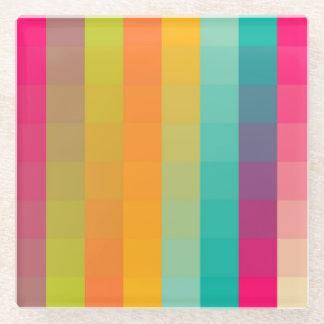 Abstract geometric pattern glass coaster