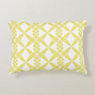 Abstract geometric pattern - gold and white. accent pillow