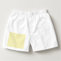 Abstract geometric pattern - gold and white. boxers
