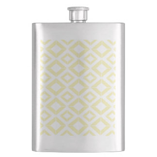 Abstract geometric pattern - gold and white. flask