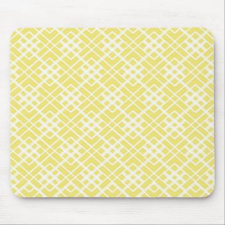Abstract geometric pattern - gold and white. mouse pad
