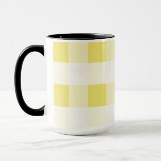 Abstract geometric pattern - gold and white. mug