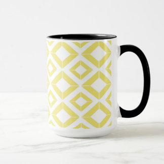 Abstract geometric pattern - gold and white. mug