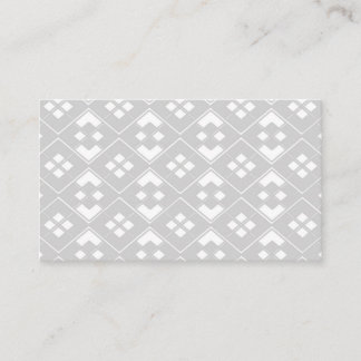 Abstract geometric pattern - gray and white. business card