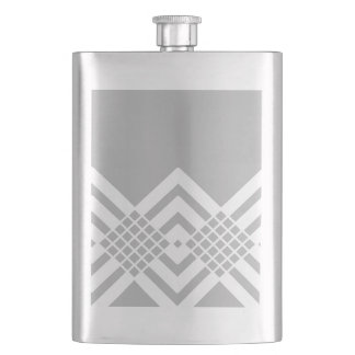 Abstract geometric pattern - gray and white. flask
