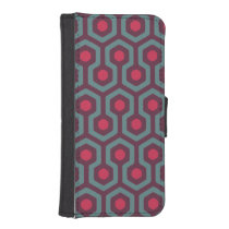 Abstract Geometric Pattern iPhone SE/5/5s Wallet Case
