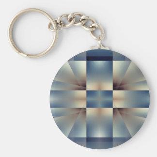 Abstract geometric pattern keychain