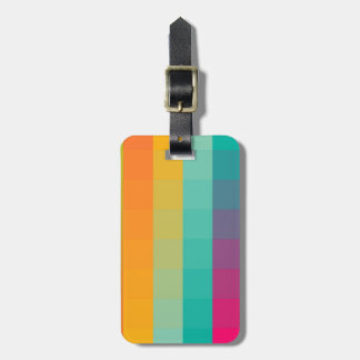 Abstract geometric pattern tag for bags