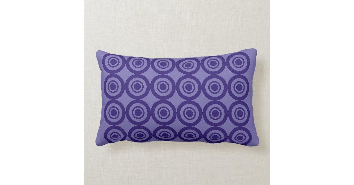 Abstract Geometric Pattern Lumbar Indigo Lavender Pillow Zazzle